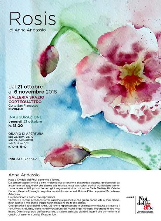 """A Cividale del Friuli la mostra """"Rosis"""" di Anna Andassio"""