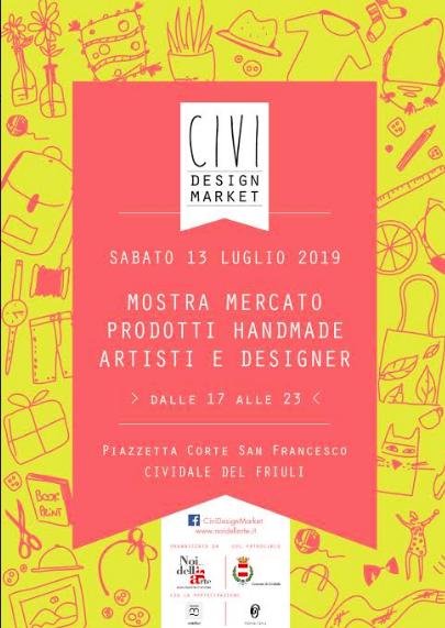 locandina civi design market #5 luglio 2019